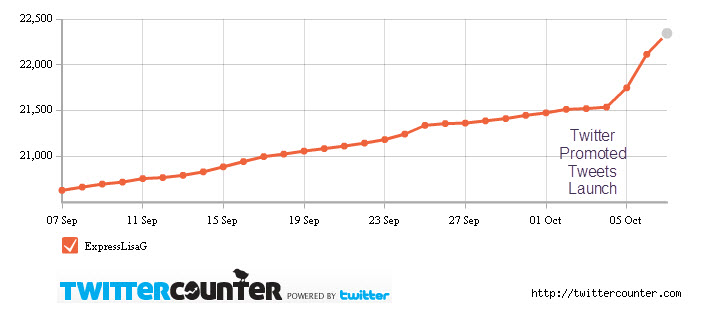 Twitter Promoted Accounts Drives More Followers for Express