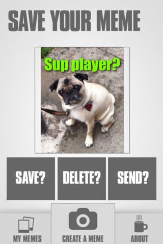 Memeration iPhone App - Sup Playa