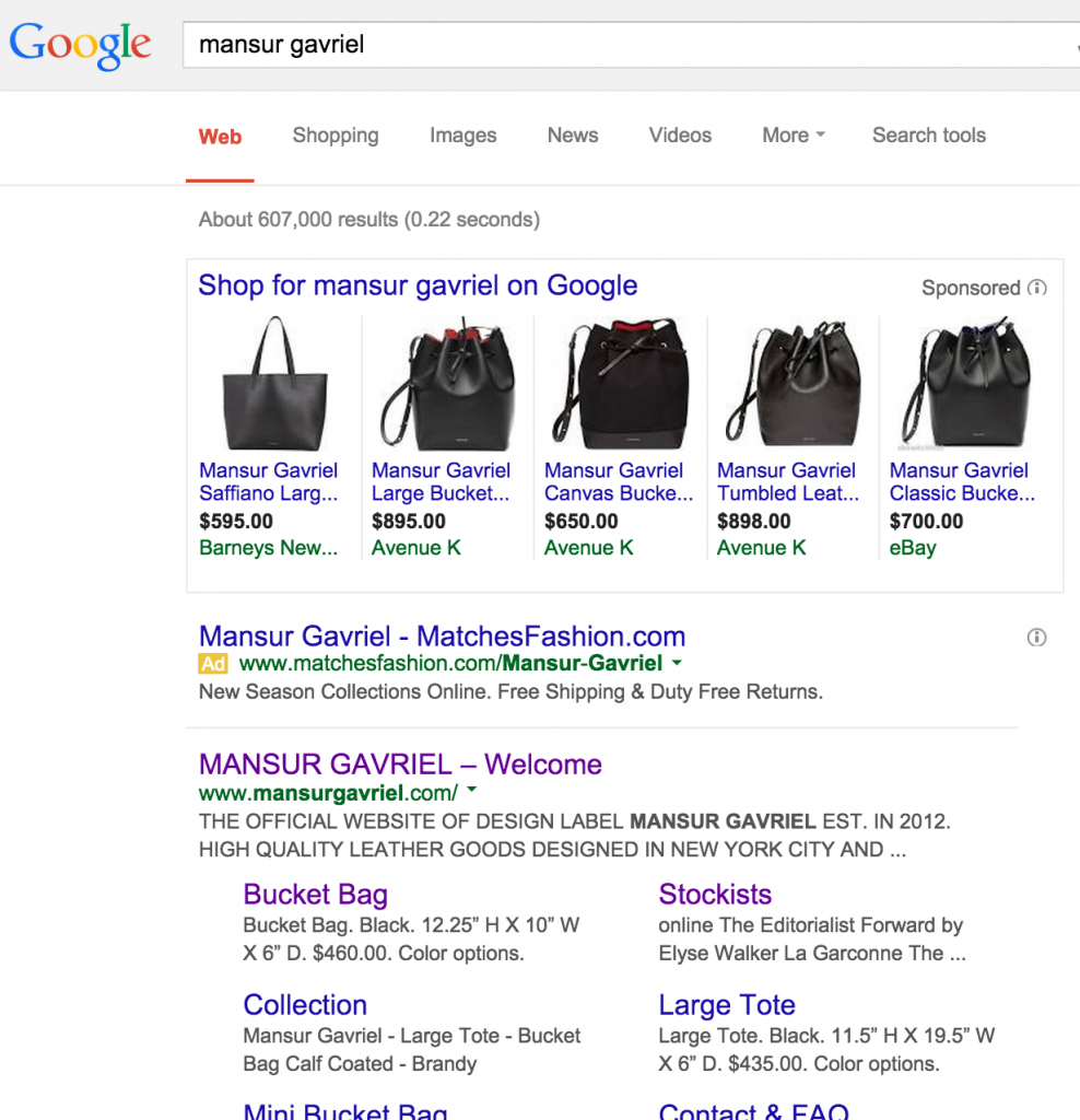 Mansur Gavriel Search Engine Marketing